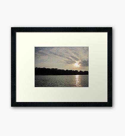 Fanciful Sun Cloudscape Framed Print