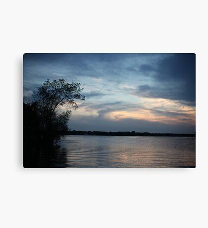 Lac LaBelle Sunset Canvas Print