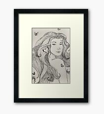 butterfly girl Framed Print