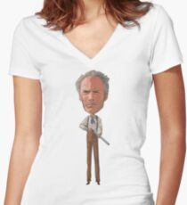 Clint is rusty. Women's Fitted V-Neck T-Shirt