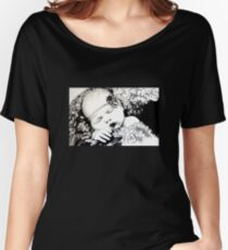 My Daughter, Grace - charcoal portrait, clothing, stickers, iphone case Women's Relaxed Fit T-Shirt