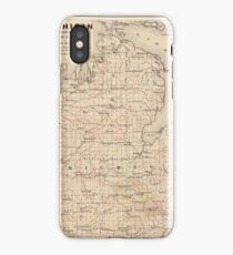 Vintage Map of Michigan (1873) 2 iPhone Case