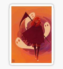 Reaper Girl in the Desert Sticker