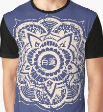 White Lotus (Blue) Graphic T-Shirt
