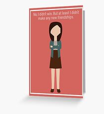 "April Ludgate: ""New Friendships"" Greeting Card"