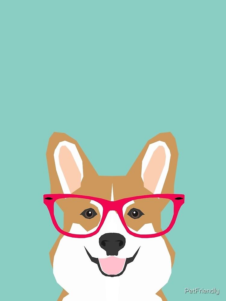 Teagan Glasses Corgi cute puppy welsh corgi regalos para los amantes de los perros y los dueños de mascotas amor corgi cachorros de PetFriendly
