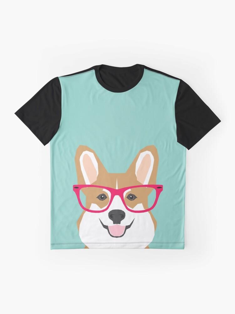 Vista alternativa de Camiseta gráfica Teagan Glasses Corgi cute puppy welsh corgi regalos para los amantes de los perros y los dueños de mascotas amor corgi cachorros