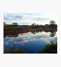 Mirror, Mirror ~~ Ringwood Mill Pond, Ringwood NJ Photographic Print