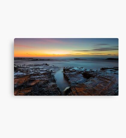 Red Rock Gully Canvas Print