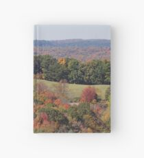 Colorful countryside Hardcover Journal
