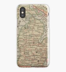 Vintage Map of Michigan (1885) iPhone Case