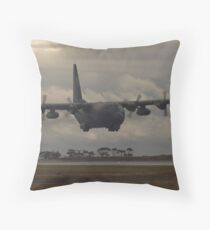 C-130 on Approach Throw Pillow