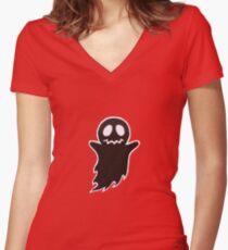 Dark Ghost Women's Fitted V-Neck T-Shirt