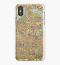 Vintage Map of Michigan (1909) iPhone Case