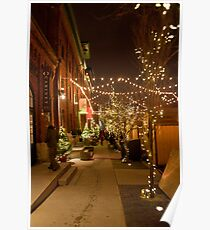 Christmas Market Lane of Lights Poster