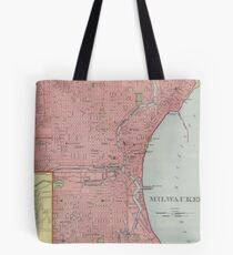 Vintage Map of Milwaukee Wisconsin (1903) Tote Bag