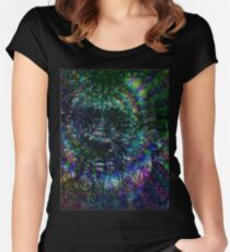 Terence McKenna Tribute Poster Women's Fitted Scoop T-Shirt