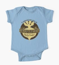 I enjoyed my stay at Schrute Farms (Brown) One Piece - Short Sleeve