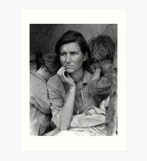 Migrant Mother by Dorthea Lange Art Print