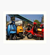 Scarborough National Scooter Rally Art Print
