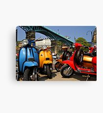 Scarborough National Scooter Rally Canvas Print