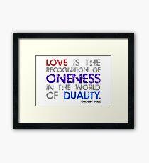 love is. Framed Print