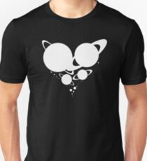 Solar System Heart (to scale) white version Unisex T-Shirt