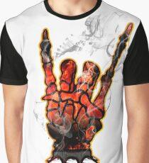 HEAVY METAL HAND SIGN - hellfire Graphic T-Shirt