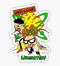 Jamie and Adam's Lab Sticker