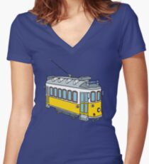Hello from Lisbon Women's Fitted V-Neck T-Shirt