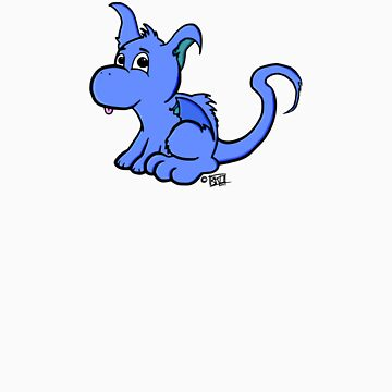 Cute Blue Dragon by KeithOliver