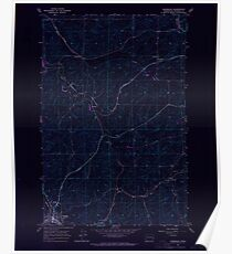 USGS Topo Map Washington State WA Oakesdale 242893 1964 24000 Inverted Poster