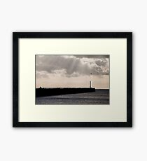 Harbour Arm East, Newhaven Framed Print