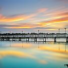 Reflections of a Jetty by Mark  Lucey