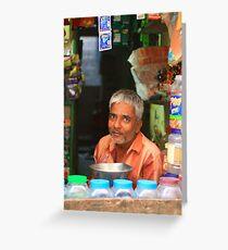 india, shop keeper Greeting Card