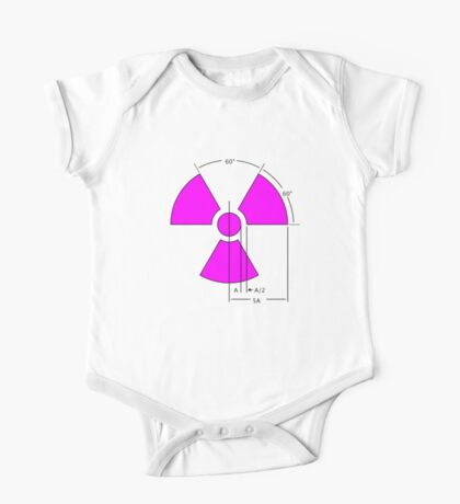 Warning Radiation Sign Template Kids Clothes