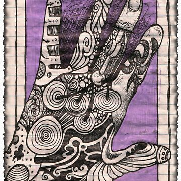 Hand Psychedelia: Sticker or T-Shirt by JSYandow