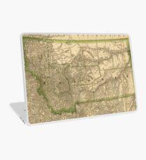 Vintage Map of Montana (1881) Laptop Skin