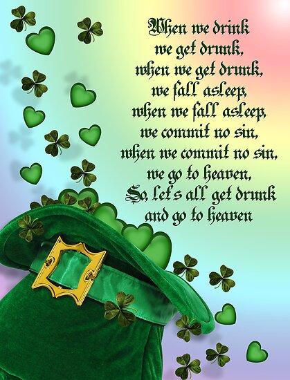 Irish blessing leprechaun hat by Irisangel