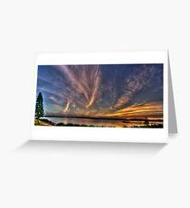 Speers Point Park Sunset Panaroma Greeting Card