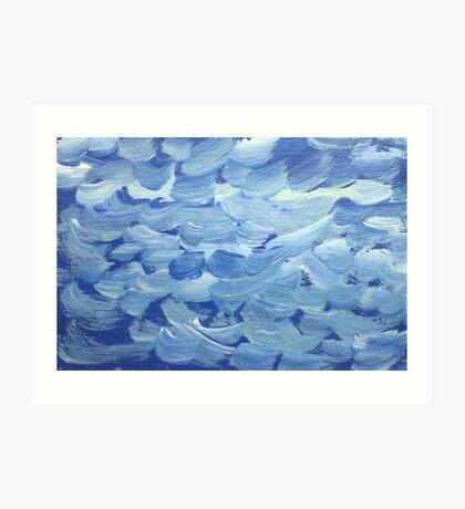 Impression White Capped Waves Art Print