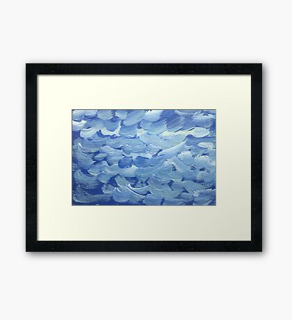 Impression White Capped Waves Framed Print