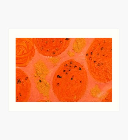 Impression Oranges Art Print