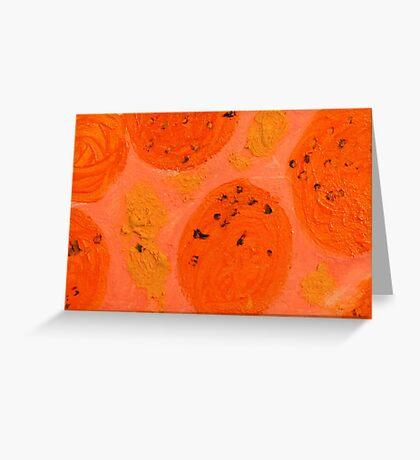 Impression Oranges Greeting Card
