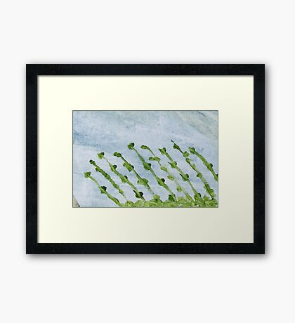 Impression Shore Seaweeds Framed Print