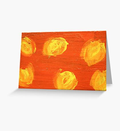 Impression Yellow Blossoms Greeting Card