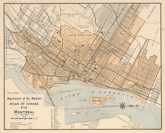 Vintage Map of Montreal (1906)\