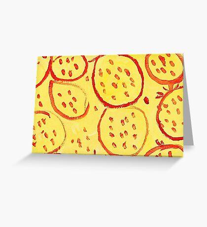 Impression Pomegranate Greeting Card