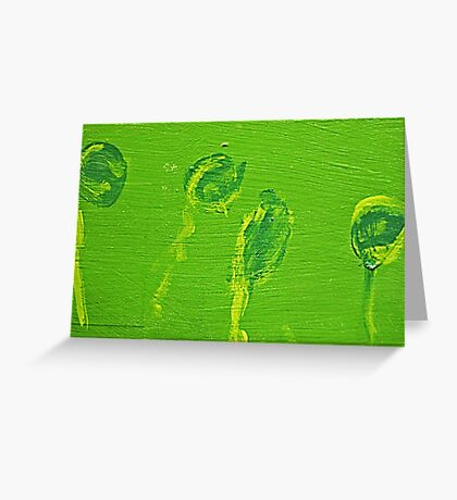 Impression Green Water Blossoms Greeting Card