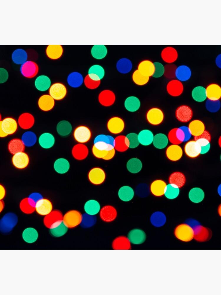 Bokeh Lights On a Black Background by MarkUK97